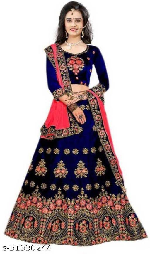 DM FASHION HUB New Fashion Soild Stylish Lehenga Choli.