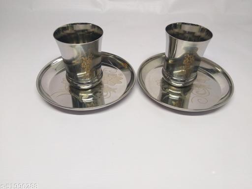 steel breakfast plate,water glasses ,steelbrack fast plat and water glass set,nasta plat water glass