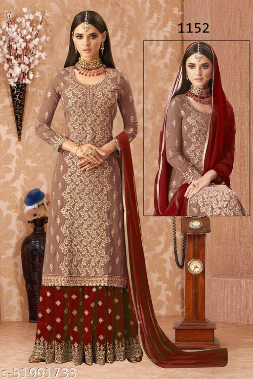 Diyan Fashion Georgette Embroidered Salwar Suit Material