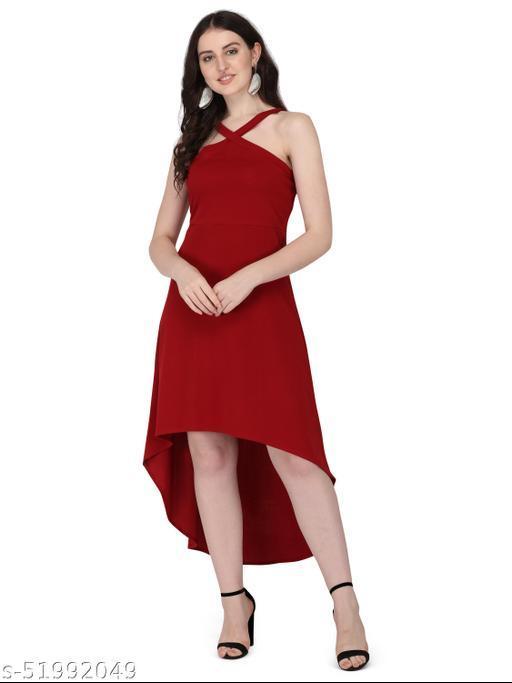 Hidh low Maroon western dress