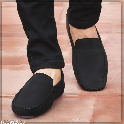 John Karsun Men's Black Loafers