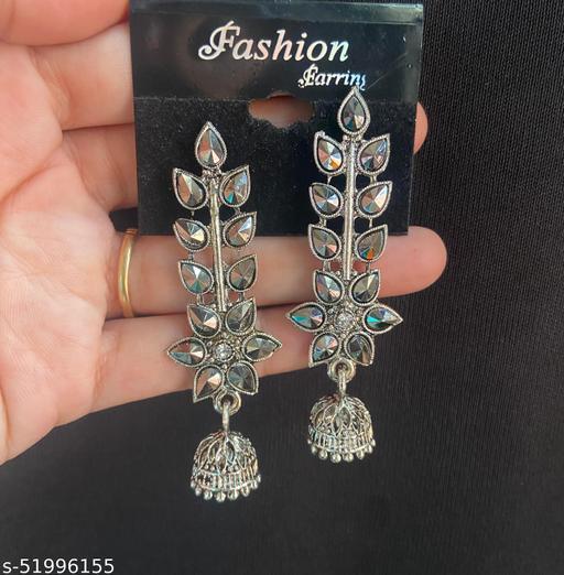 Klenot Multicolour Crystal Flower Jhumki Earrings