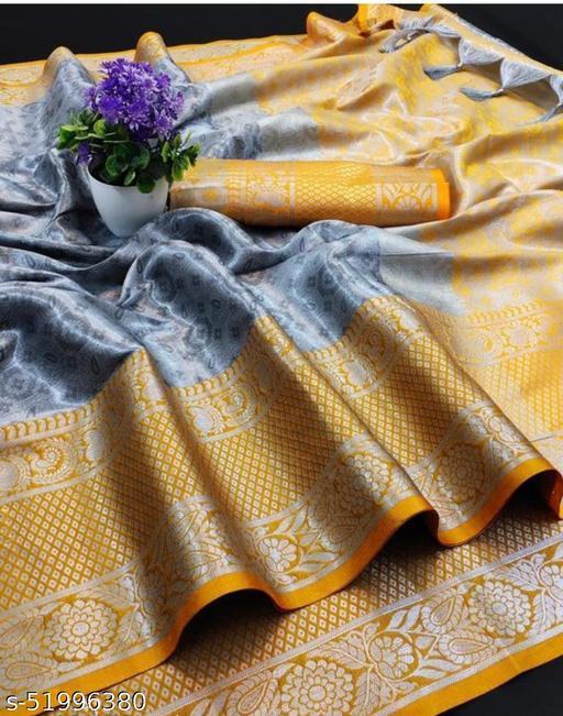 """""""Riti"""" Jacquard Cotton Silk Saree"""