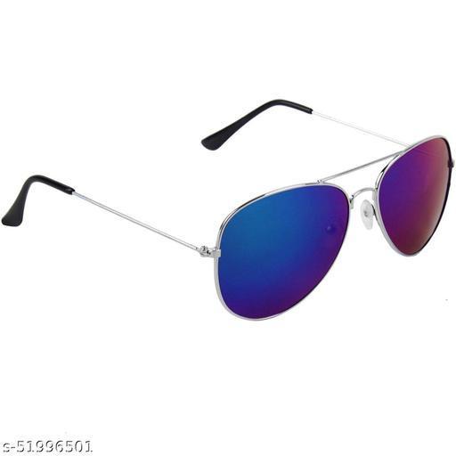 Alfalah Blue Aviator Metal Sunglasses For Men & Women
