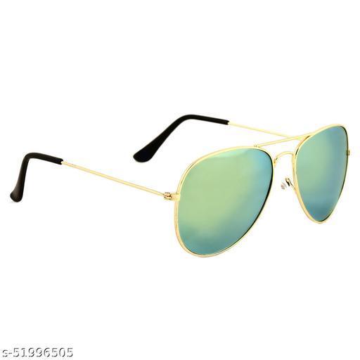 Alfalah Green Aviator Metal Sunglasses For Men & Women