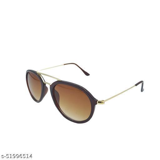 Alfalah Brown Aviator Metal Sunglasses For Men & Women