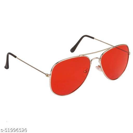 Alfalah Red Aviator Metal Sunglasses For Men & Women