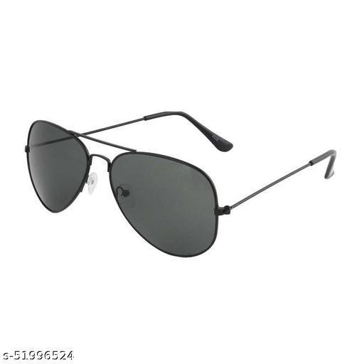 Alfalah Black Aviator Metal Sunglasses For Men & Women