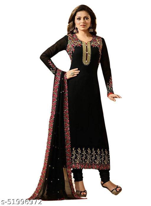 Women's Gerogette Semi-Stitched Salawar Suit