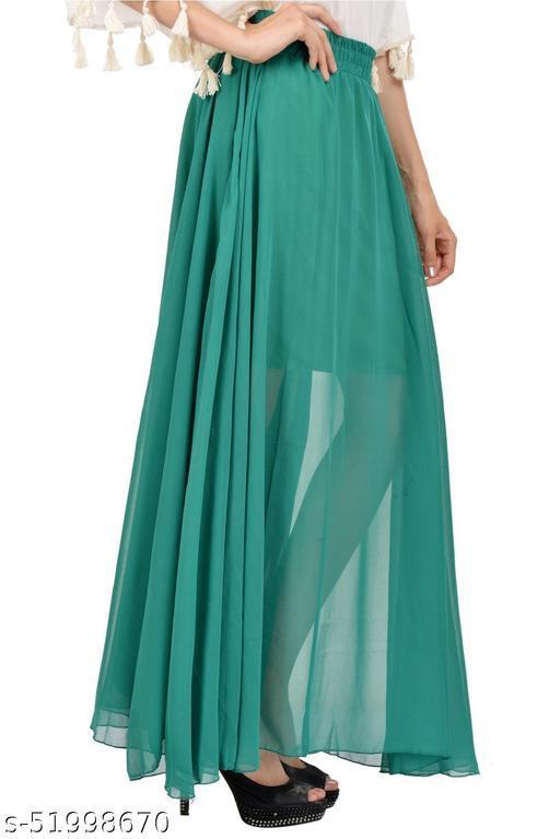Teal Green  Long Skirt Women