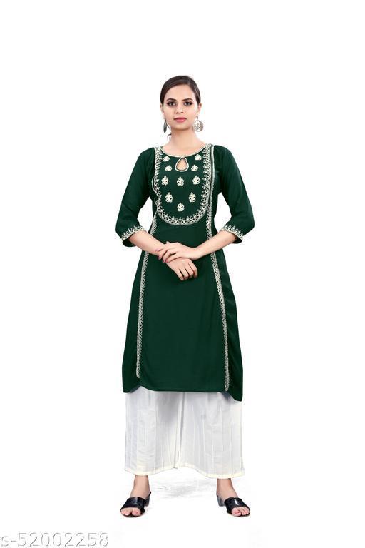 Sahyog creation Green kurti with white pant