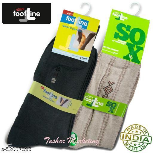 Rupa Footline Men's Cotton Calf Length Formal 2 Pair Socks|Fline-1|FL_2(2006_OLIVE,5101_BROWN)