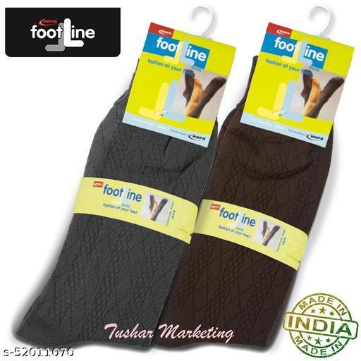 Rupa Footline Men's Cotton Calf Length Formal 2 Pair Socks Fline-1 FL_2(2103_BROWN,2103_OLIVE)