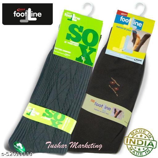 Rupa Footline Men's Cotton Calf Length Formal 2 Pair Socks Fline-1 FL_2(1007A_BROWN,2108_BLACK)