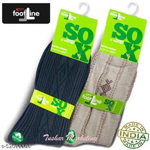 Rupa Footline Men's Cotton Calf Length Formal 2 Pair Socks Fline-1 FL_2(2108_NAVY,5101_BROWN)
