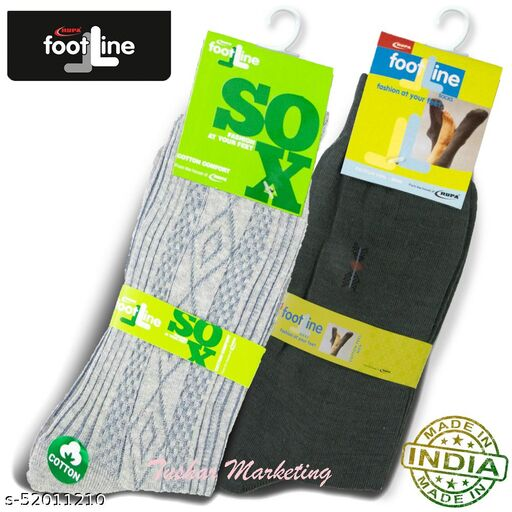 Rupa Footline Men's Cotton Calf Length Formal 2 Pair Socks|Fline-1|FL_2(2013_OLIVE,2108_GREY)