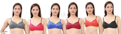 MH productWomen Full Coverage Non Padded Bra(Multicolor)(pack of 6)