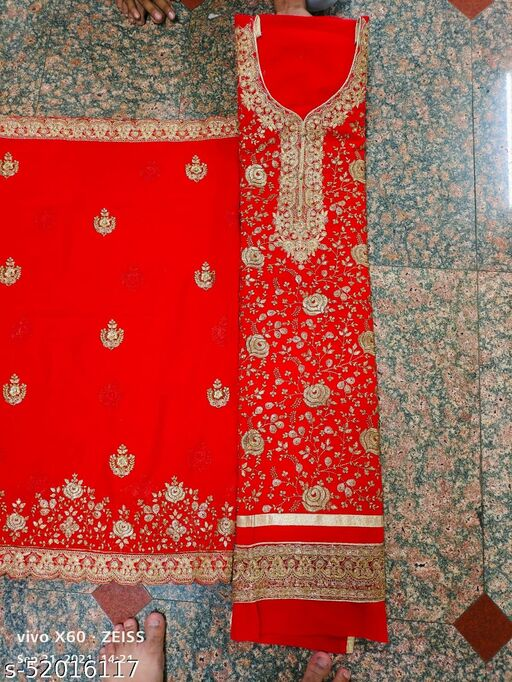 Aagam Refined Semi-Stitched Suits