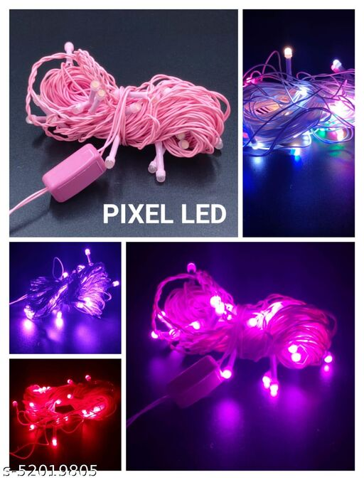 Diwali lights LED Pixel String Light 5 Meter for Diwali, Christmas Home Decoration.Heavy Duty Copper Led Pixel String Light LED Garland Pack of 2