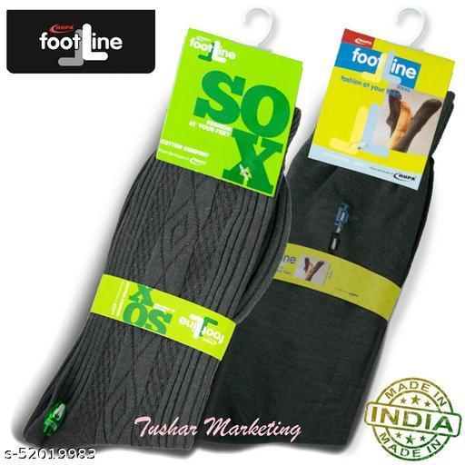 Rupa Footline Men's Cotton Calf Length Formal 2 Pair Socks|Fline-1|FL_2(2032_OLIVE,2108_OLIVE)
