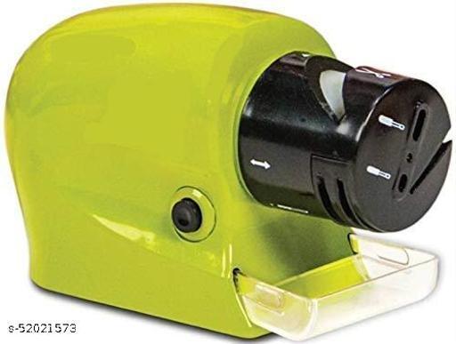 H.R.ENTERPRISE_ Product Professional Electric Knife Sharpener Swifty Sharp Motorized Knife Sharpener Rotating Sharpening Stone Sharpening Tool - Green Color
