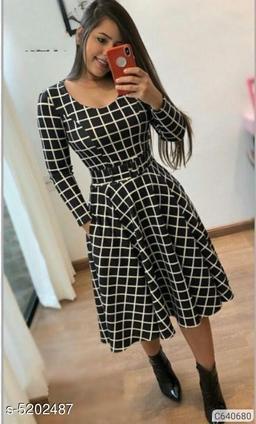 Trendy Crepe Dress