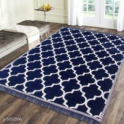 Premium Jacquard Weaved Chenille Living room Carpet/ Dhurries