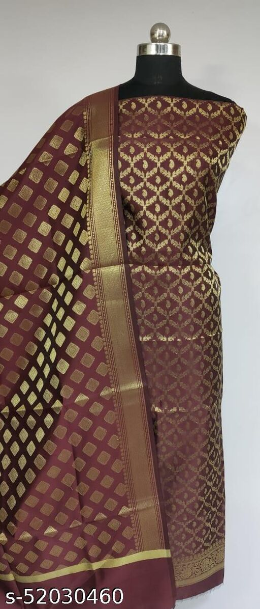 TrenDy Fashionable Banarsi Silk Suit And Dress Material