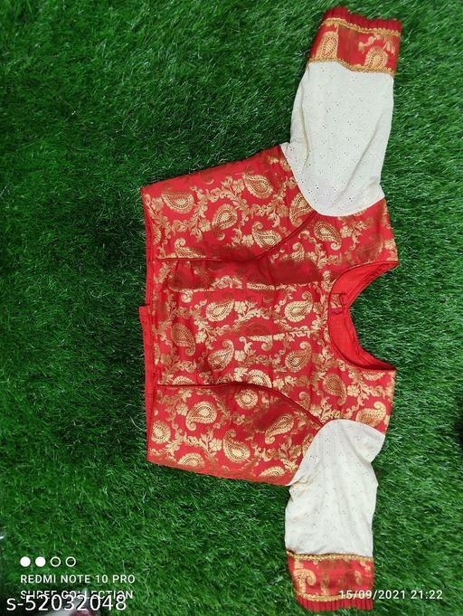 Red and off white Chanderi benarasi