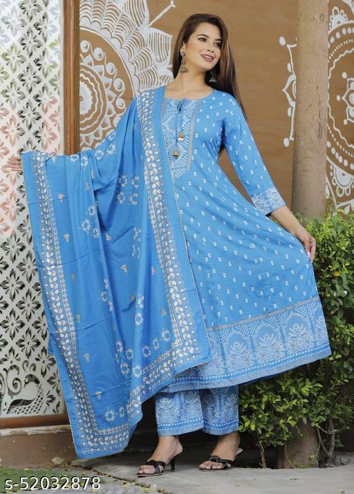 Beautiful  Anarkali kurti sets for girls and women