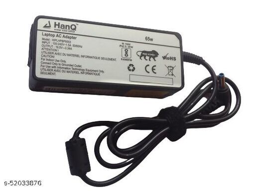 HANQ 19.5V 3.34A 65W adapter for HP 14AM009TU (Included Power Cord)