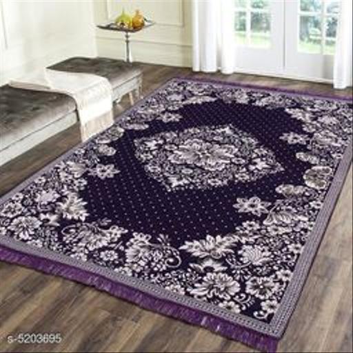 Premium Heavy polyester Chenille Weaved Carpet