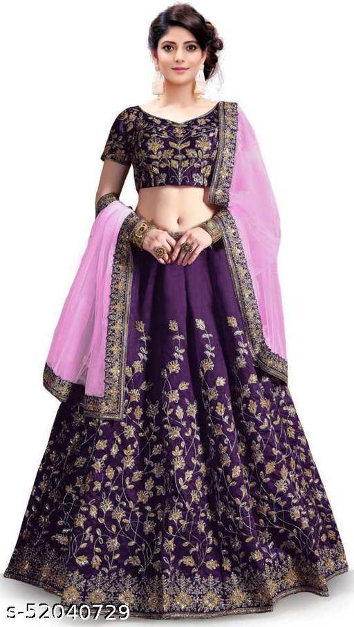 DESIGNER LEHENGA CHOLI WITH DUPATTA & Blouse in purple colour