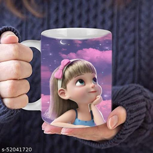 LEEMZON Printed Ceramic 330 ML Tea/Coffee Mug, Gifts, Birthday Gift, office use