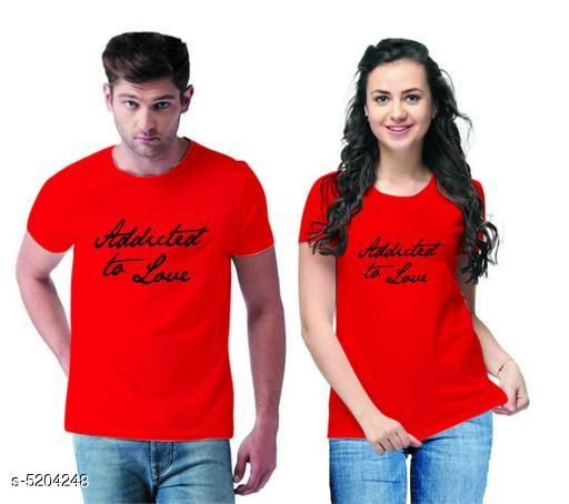 Tshirts  Stylish Printed Couple T-shirts  *Fabric* Men Tshirt - Cotton Blend, Women Tshirt - Cotton Blend  *Sleeves* Half Sleeves Are Included  *Size* Women  *Length* Women Tshirt  *Type* Stitched  *Description* It Has 1 Piece Of Men's T-shirt & 1 Piece Of Women's T-shirt Work - Printed  *Sizes Available* MEN - S/ WOMEN - S, MEN - M/ WOMEN - S, MEN - L/ WOMEN - S, MEN - XL/ WOMEN - S, MEN - XXL/ WOMEN - S, MEN - XS/ WOMEN - M, MEN - S/ WOMEN - M, MEN - M/ WOMEN - M, MEN - L/ WOMEN - M, MEN - XL/ WOMEN - M, MEN - XXL/ WOMEN - M, MEN - S/ WOMEN - L, MEN - M/ WOMEN - L, MEN - L/ WOMEN - L, MEN - XL/ WOMEN - L, MEN - XXL/ WOMEN - L, MEN - S/ WOMEN - XL, MEN - M/ WOMEN - XL, MEN - L/ WOMEN - XL, MEN - XL/ WOMEN - XL, MEN - XXL/ WOMEN - XL, MEN - S/ WOMEN - XXL, MEN - M/ WOMEN - XXL, MEN - L/ WOMEN - XXL, MEN - XL/ WOMEN - XXL, MEN - XXL/ WOMEN - XXL *    Catalog Name:  Stylish Printed Couple T-shirts CatalogID_770050 C79-SC1021 Code: 364-5204248-