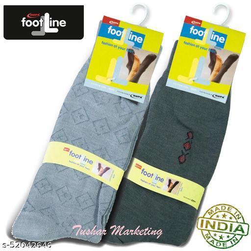 Rupa Footline Men's Cotton Calf Length Formal 2 Pair Socks|Fline-1|FL_2(3004_OLIVE,3016_GREY)
