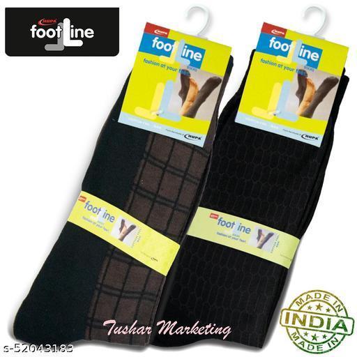 Rupa Footline Men's Cotton Calf Length Formal 2 Pair Socks|Fline-1|FL_2(3015_BLACK,4032_BROWN)