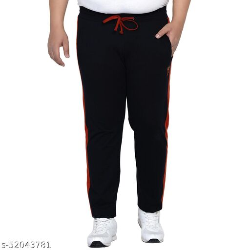 John Pride Plus Size Men's Casual Navy Blue Lower For Men Track Pants