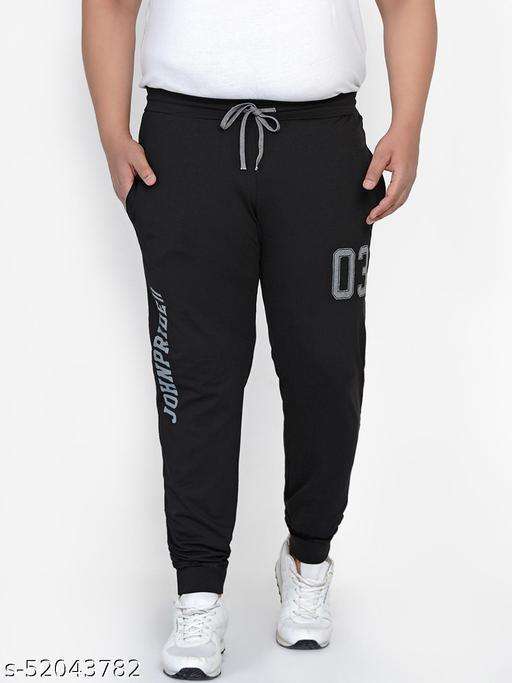 John Pride Plus Size Men's Casual Black Lower For Men Track Pants
