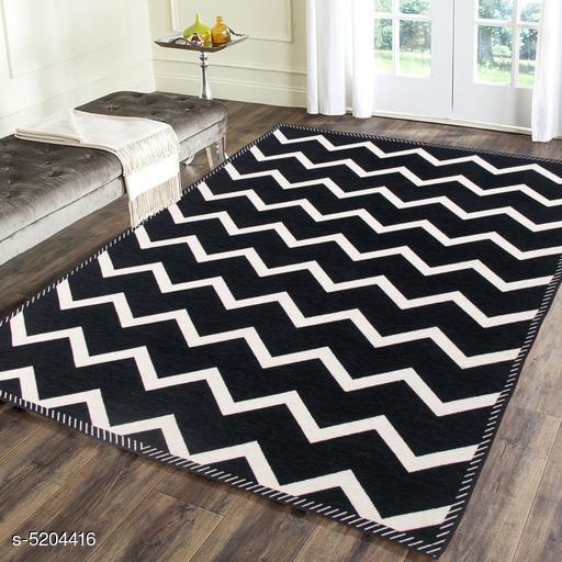 Trendy Heavy polyester Chenille weaved Carpet/ Dhurries