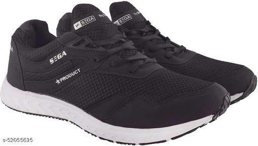 SEGA Black-Marathon Running Shoes For Men