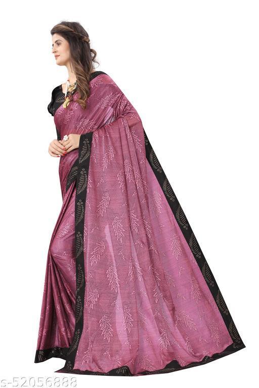 Printed Fashion Lycra Blend Saree