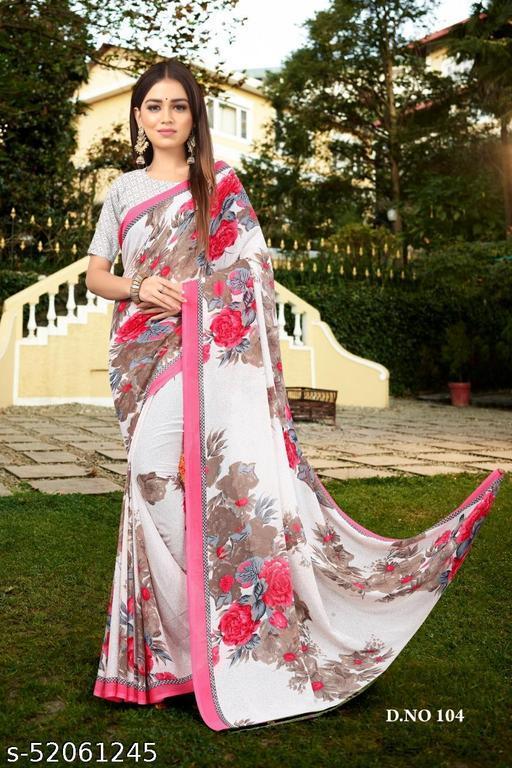 Just V Tex Sarees presents beautiful fancy georgette fabric printed Saree