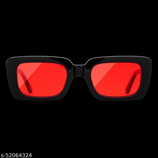 UV Protection, Riding Glasses Cat-eye, Retro Square Sunglasses (Free Size)(For Men & Women, Black)