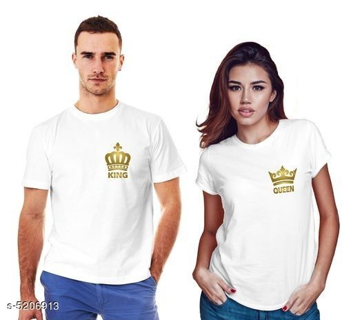 Tshirts  Stylish Printed Couple T-shirts  *Fabric* Men  *Sleeves* Half Sleeves Are Included  *Size* Women  *Length* Women  *Type* Stitched  *Description* It Has 1 Piece Of Couple T-Shirts For Men & 1 T -shirt For Women .  *Work* Printed  *Sizes Available* MEN - S/ WOMEN - S, MEN - M/ WOMEN - S, MEN - L/ WOMEN - S, MEN - XL/ WOMEN - S, MEN - XXL/ WOMEN - S, MEN - XS/ WOMEN - M, MEN - S/ WOMEN - M, MEN - M/ WOMEN - M, MEN - L/ WOMEN - M, MEN - XL/ WOMEN - M, MEN - XXL/ WOMEN - M, MEN - S/ WOMEN - L, MEN - M/ WOMEN - L, MEN - L/ WOMEN - L, MEN - XL/ WOMEN - L, MEN - XXL/ WOMEN - L, MEN - S/ WOMEN - XL, MEN - M/ WOMEN - XL, MEN - L/ WOMEN - XL, MEN - XL/ WOMEN - XL, MEN - XXL/ WOMEN - XL, MEN - S/ WOMEN - XXL, MEN - M/ WOMEN - XXL, MEN - L/ WOMEN - XXL, MEN - XL/ WOMEN - XXL, MEN - XXL/ WOMEN - XXL *    Catalog Name:  Stylish Printed Couple T-shirts CatalogID_770507 C70-SC1205 Code: 175-5206913-