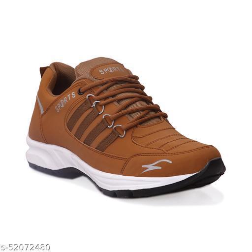 JAVIO Stylish Tan Sports Shoes Men Casual Shoes Gym Cycling Walking Training Running Shoes Formal Shoes Brown shoes Trendy Sports Shoes For Men