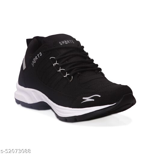 JAVIO Stylish Black Sports Shoes Men Casual Shoes Gym Cycling Walking Shoes Training Running Shoes Formal Shoes Trendy Sports Shoes For Men