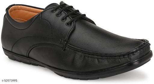 Ozarro Black Semi Fomal shoe for Mens