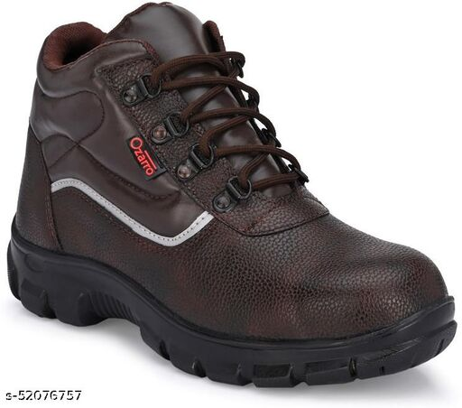 Ozarro Brown Leather Steel Toe Safety Shoe (S4425)