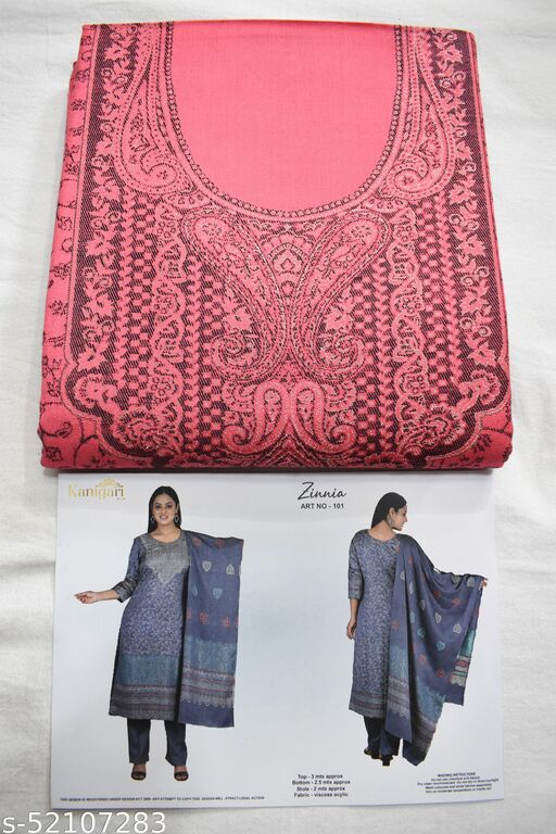 woolen unstiched KANI suit for winters made from vicose Acylic